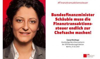 Pressemitteilung: Bundesfinanzminister Schäuble muss die Finanztransaktionssteuer zur Chefsache machen