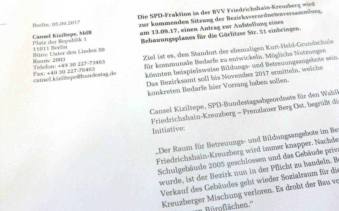 PM: Ehemalige Kurt-Held-Grundschule für kommunale Bedarfe sichern!