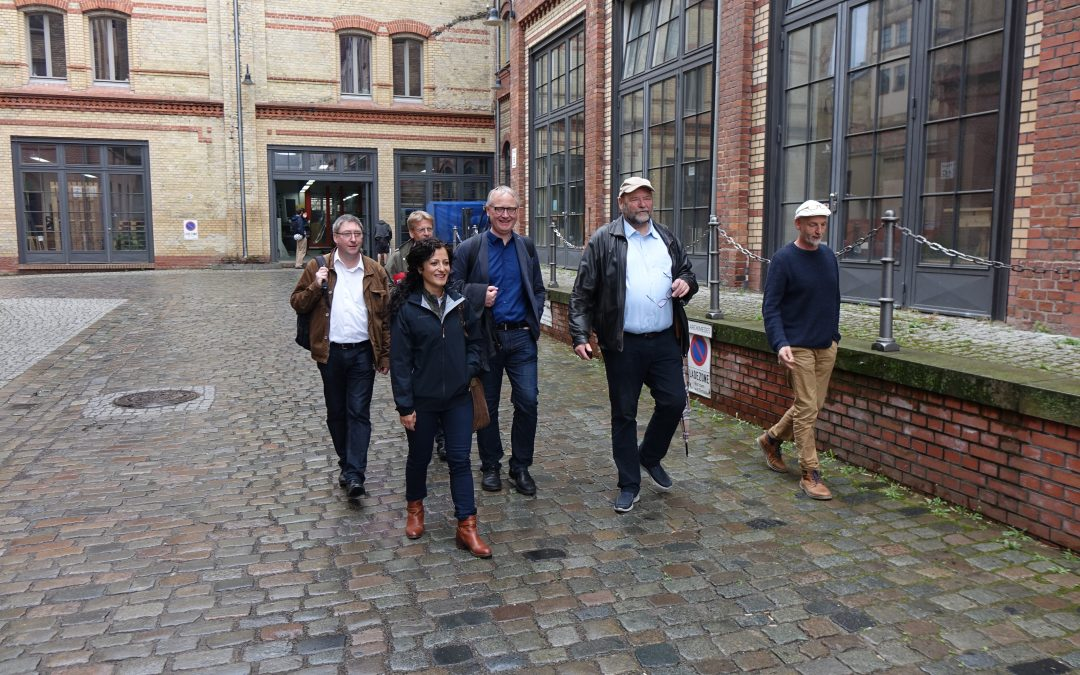 Gemeinsamer Termin mit Klaus Mindrup (MdB) bei der Genossenschaft Gewerbehof Saarbrücker Straße eG in genossenschaftlicher Selbstverwaltung