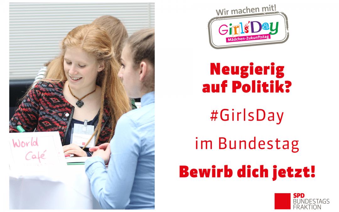 Girls' Day – Einen Tag als Politikerin im Bundestag verbringen