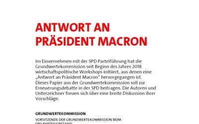Eine sozialdemokratische Antwort auf Macron