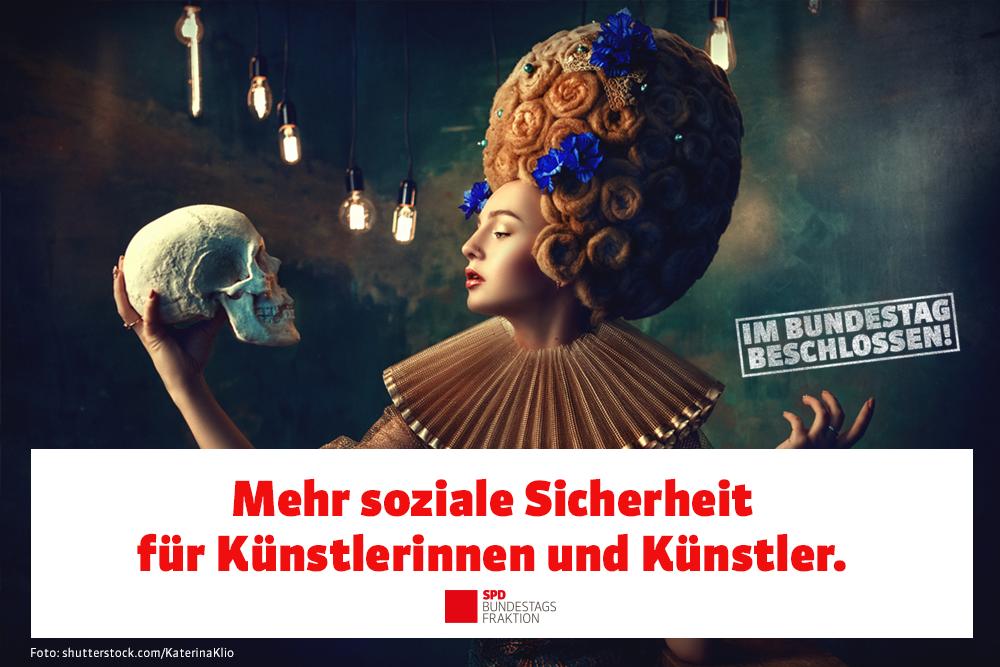 Mehr soziale Sicherheit für Künstlerinnen und Künstler!