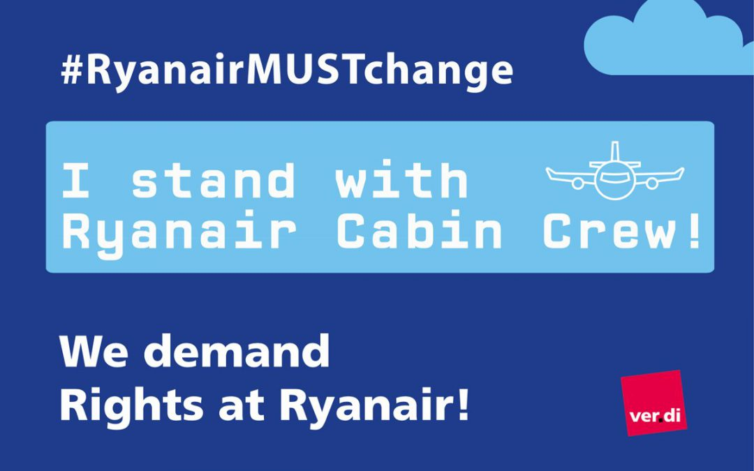 Erster Tarifvertrag bei Ryanair – ein guter Tag für die Beschäftigten!