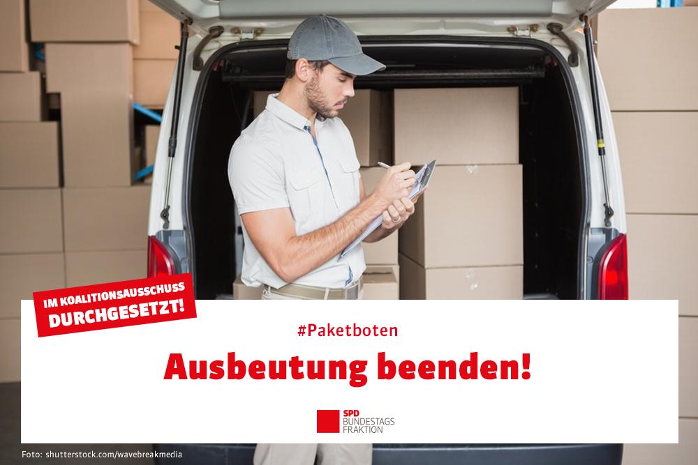 #Paketboten – Ausbeutung beenden!