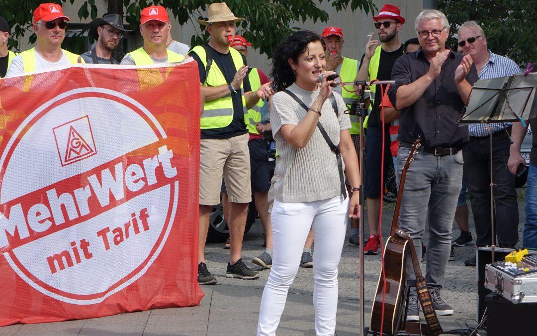 Seit 13 Wochen Streik bei RIVA für einen fairen Tarifvertrag!
