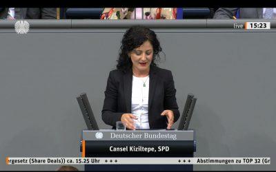 Bundestagsrede zum Grunderwerbsteuergesetz (Share Deals)
