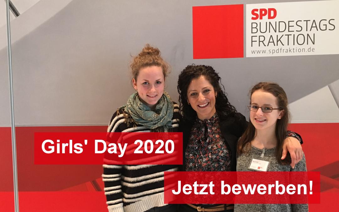 Der Girls' Day 2020 im Deutschen Bundestag – Mehr Mädchen in die Parlamente!