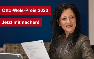 Otto-Wels-Preis für Demokratie 2020 – für eine beständige Erinnerungskultur!