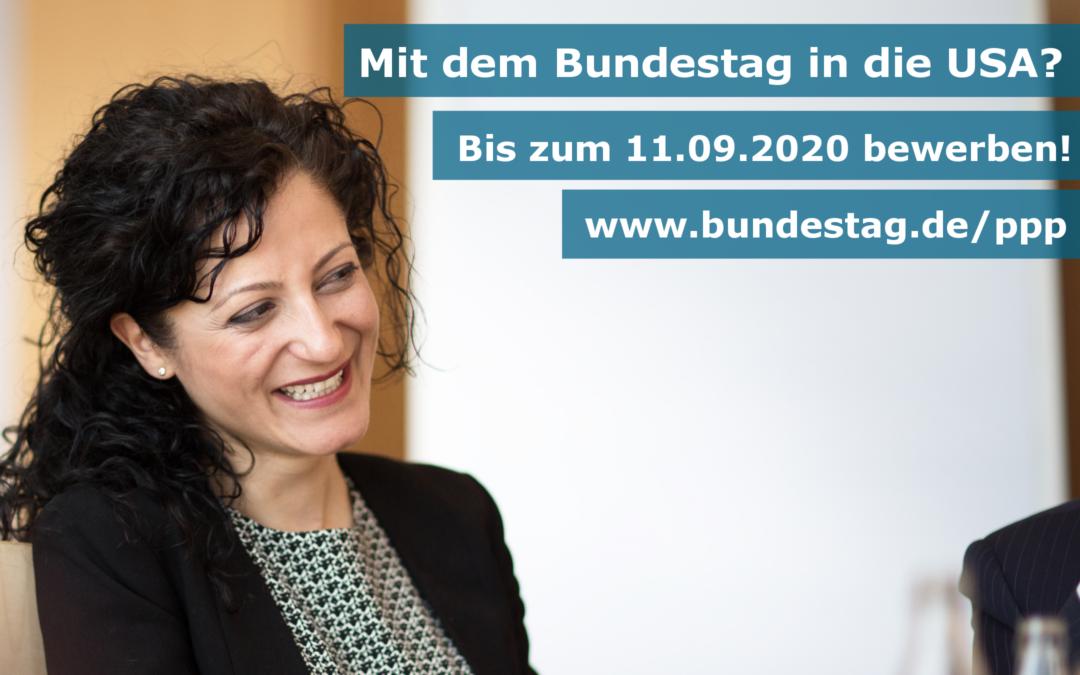 Mit dem Bundestag 2021/2022 in die USA – Das Parlamentarische Patenschafts-Programm (PPP)