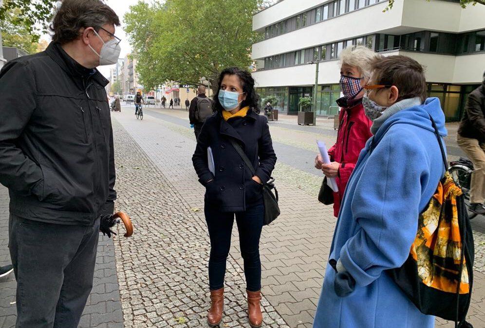 """Besuch bei der Initiative """"Mehringplatz West – Es reicht!"""""""