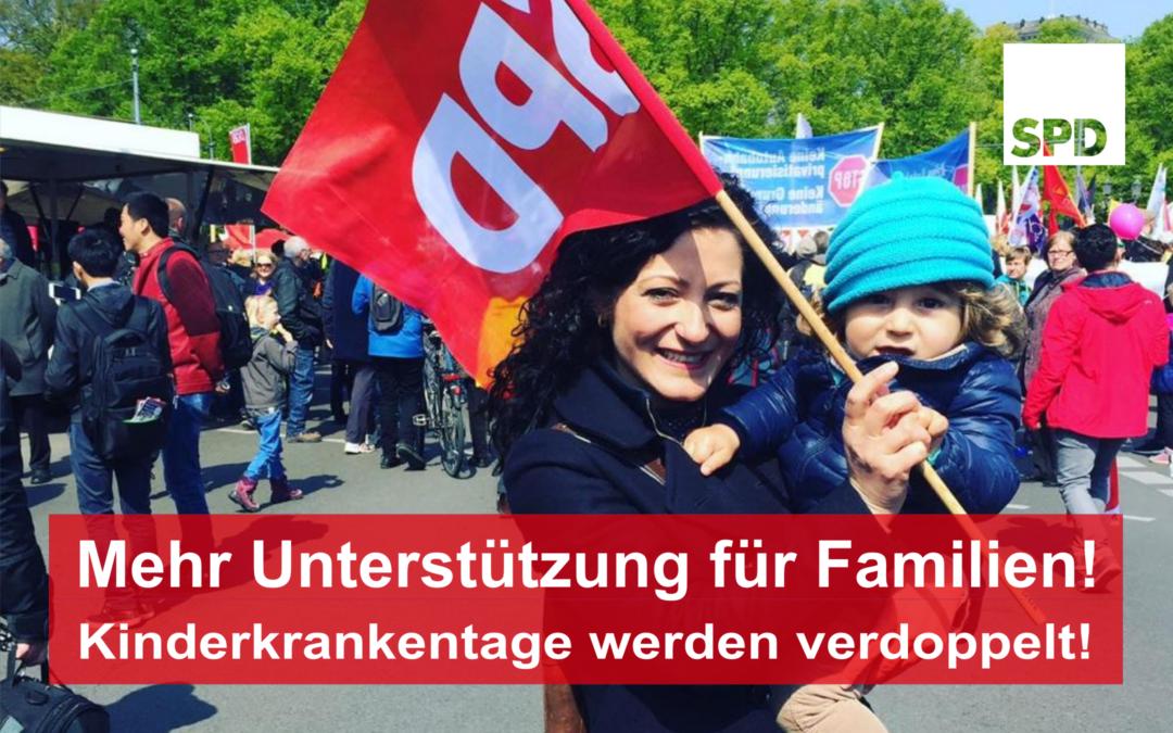 Verdopplung der Kinderkrankentage – Mehr Unterstützung für Eltern und Alleinerziehende!