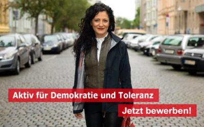 """Jetzt bewerben! Wettbewerb """"Aktiv für Demokratie und Toleranz"""" 2021"""